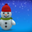 3D - Snowman - Shot 5 — Stock Photo #58397839