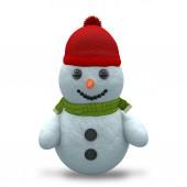 3D - Snowman - Shot 1 — Stock Photo