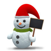3D - Snowman - Shot 12 — Stock Photo