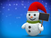 3D - Snowman - Shot 21 — Stock Photo