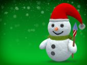 3D - Snowman - Shot 23 — Stock Photo