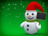 3D - Snowman - Shot 24 — Stock Photo