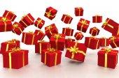 3D - Christmas Gift Boxes - Shot 1 — Stok fotoğraf