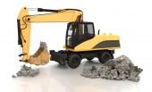 Mechanical Shovel Excavator - Shot 1 — Stock Photo