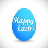 Happy easter egg - blue — Stock Photo