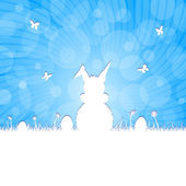 Easter silhouette - blue — Zdjęcie stockowe