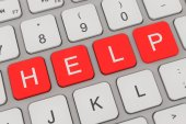 Keyboard - help - red — Stock Photo