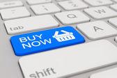Keyboard - buy now - blue — Stock Photo