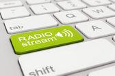 Teclado - transmissão de rádio - verde — Fotografia Stock