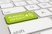 Toetsenbord - radio stream - groen — Stockfoto