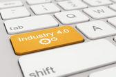 Keyboard - industry - 4.0 - orange — Stock Photo