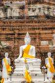 Ancient Buddha, Ayutthaya, Thailand — Stock Photo
