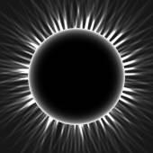 Annular eclipse moon passes the sun vector — Stock Vector