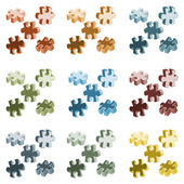 Vector illustration made from four colorful puzzle pieces — Stock Vector