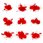 Watercolor hand painted circles set vector spot — Stock Vector