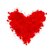Рисованной окрашенные красные сердца, элемент вектора синхронизации для вашего дизайна — Cтоковый вектор