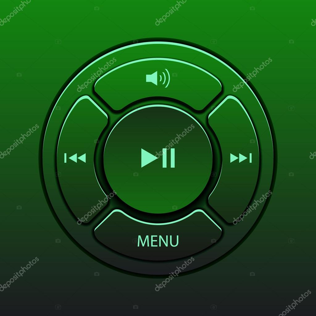 矢量用于音乐播放器图标界面设计元素
