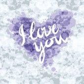 Heart, i love you, colorful paint splash illustration vector background — Stock Vector