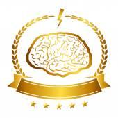 Vector illustration of brain designs iconic, ideas, memory, education, — Stock Vector