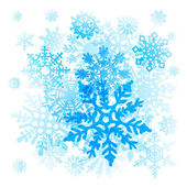 Snowflakes Christmas vector icons. collection graphic art — Stock Vector