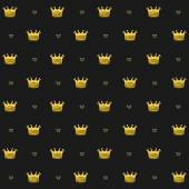 Simple seamless vector pattern with crown symbol art — Stockvektor