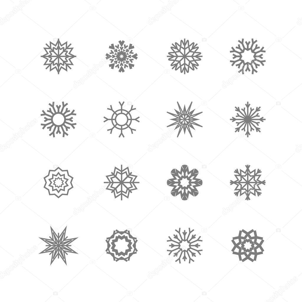 Gmail christmas theme - Snowflake Icons Snowflakes Set Winter And Christmas Theme Vector Illustration Eps10 Vector By Romanchik Ruslan Gmail Com
