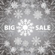 Winter sale background banner and snow. Christmas. New year. Vector — Stockvektor  #59537563