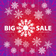 Winter sale background banner and snow. Christmas. New year. Vector — Stockvektor  #59537589