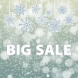 Winter sale background banner and snow. Christmas. New year. Vector — Stockvektor  #59586753