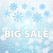 Winter sale background banner and snow. Christmas. New year. Vector — Stock Vector #59586775