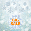 Winter sale background banner and snow. Christmas. New year. Vector — Stock Vector #59586781