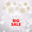 Winter sale background banner and snow. Christmas. New year. Vector — Stock Vector #59586785