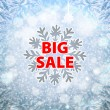 Winter sale background banner and snow. Christmas. New year. Vector — Stockvektor  #59586823