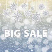 Winter sale background banner and snow. Christmas. New year. Vector — Stock Vector