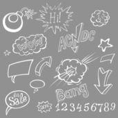 Bomb explosion comic style templates. Vector illustration — Stockvektor