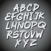 Vector Alphabet Set art grey shadow font — Vecteur