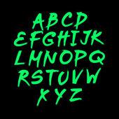 Floral alphabet on green background, vector format spring — 图库矢量图片