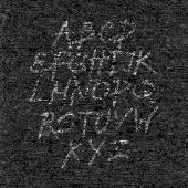 テクスチャ紙黒背景に手描きフォント — ストックベクタ