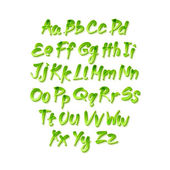 Vector alphabet. Letters of the alphabet written with a brush. — Stock Vector