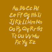 Trendy hand drawing alphabet, vector illustration. — Stock Vector