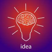 灯泡的主意矢量图 — 图库矢量图片