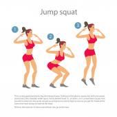 Dancing girl red sports pants Cartoon flat minimalism, character, vector illustration set. — Stock Vector