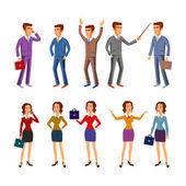 Set characters design. office team. vector. man women — Stock Vector