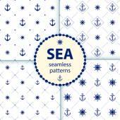 Seamless patterns Vector aqua background Set wallpaper — Stock Vector