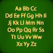 Retro Lightbulb Alphabet Glamorous showtime theatre alphabet. Vector illustration. — Stock Vector