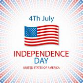 Happy independence day card United States of America, 4 th July — Stock Vector