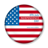 Independence day American signs hanging with chain, vector illustration — Stock Vector
