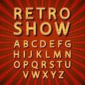 Vektör ayarla Retro neon tabela, vintage billboard, parlak tabela, ışık afiş — Stok Vektör