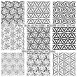 Set Of Nine Textured Natural Seamless Patterns Backgrounds — Stock Vector #77529834