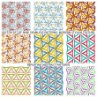 Set Of Nine Textured Natural Seamless Patterns Backgrounds — Stock Vector #77529840